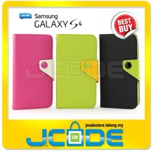 FREE Shipping-Samsung Galaxy S4 i9500 Leather Wallet Candy Stand Case