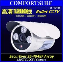 Bossan 1/4' CMOS HD CCD 800TVL CCTV Dome Color Camera 3pcs Array IR