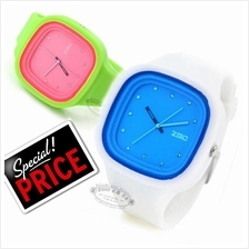 Korean ZGO Fashion Couple Jelly Soft Rubber Unisex Watch