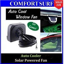 Auto Cooler Solar Powered for Car Cool + FREE Sticky Pad