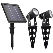 Mini 50X Twin Solar Spotlight, Garden Light, Outdoor Waterproof Light