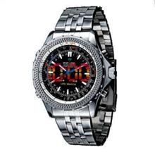 ORIGINAL WEIDE dual time LED wh-904 black silver SPORT DIGITAL ANAL