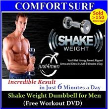 Shake Weight Dumbbell Muscle Builder for Men Woman Free Workout DVD