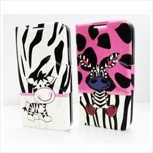 Samsung Galaxy S4 i9500 Cute Zebra Flip Wallet PU Leather Case Cover