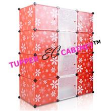 Tupper Cabinet 12 Mix White Stripes Doors Red Flower DIY Cabinet