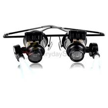 Glasses Type Double 20X Magnifier with LED-for Watch Repair/Jeweller