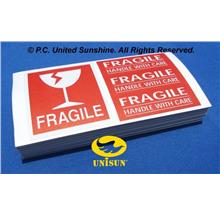 FRAGILE STICKER 4-in-1 BRIGHT RED SET 100 pcs. x 15cmx8cm ONLINE PROMO