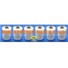 x 6 rolls EXTRA LONG MINI STRETCH FILM 100mm x 240m L PROMO Plastic