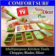 FREE GIFTS + Nicer Dicer Plus - 5 diff inserts wf 11 diff ways to cut