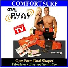 Slimming Fitness Gym Form Dual Body Muscle Shaper Belt FREE GIFT!