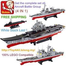 SLUBAN Aircraft Battle Complete Set(4 IN 1) LEGO Brick (FREE SHIPPING)