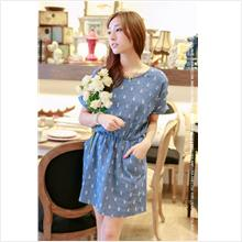 [eQ] Denim Casual Style Mini Dress ESD0071