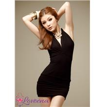 Black Charming Sexy Clubbing Costume Party Dress Lingerie L1023