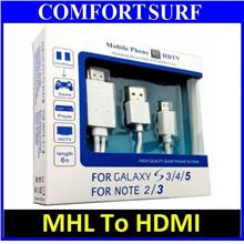MHL to HDMI Cable HDTV Adapter TV display Samsung S3 S4 S5 Note 2 3