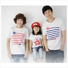 Star Design Family/Couple  Short Sleeves T-shirt