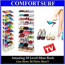 Offer!! Amazing Space Saving 10 Tier Shoe Rack Store 30 Pairs Shoe