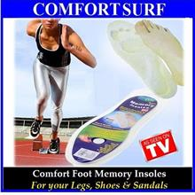 As Seen On TV - 1 Pair Comfort Foot Memory Insole for Legs, Foot