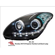 EAGLE EYES PERODUA MYVI PROJECTOR HEAD LAMP STARLINE LED [HL-101]