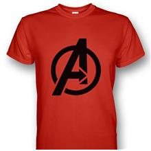 Avengers Logo Red T-shirt Black Print