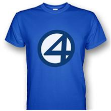 Fantastic Four Symbol Royal Blue T-shirt