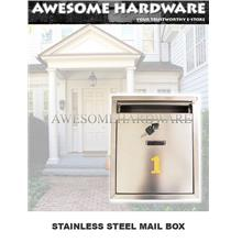 STAINLESS STEEL LETTER BOX MAIL BOX POST BOX PETI SURAT