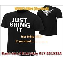 WWE Wrestling T-Shirt Baju  (The Rock Just Bring It) WRESTLING GUSTI