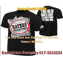 WWE Wrestling T-Shirt Baju  (Black Haters Wanted) WRESTLING GUSTI
