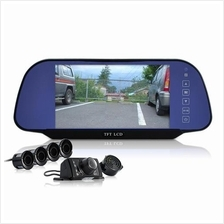 Complete Car Reversing Set - Rearview Camera, 4 Parking Sensors, Rearv