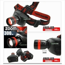 1pc 300L ZOOMABLE ZOOM 5W CREE LED HEADLAMP FLASHLIGHT-High quality