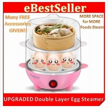 NEW Big Space Egg Steamer Master Boiler Cooker wf FREE ACCESSORIES!