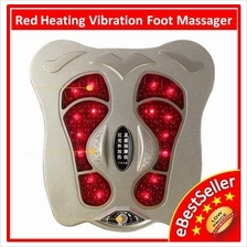 Red External Heating Vibration Fully Foot Massage-Healthy & Relax Body