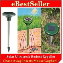 Ultrasonic Waves Solar Power Mouse Gopher Rodent Pest Insects Repeller