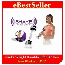 FREE GIFT + DVD + Shake Weight Dumbbell Fitness & Healthy for Women