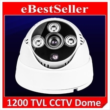 1200 TVL SecurEyes HD CCTV Dome Camera 1/3' IR Infrared Array Lamp