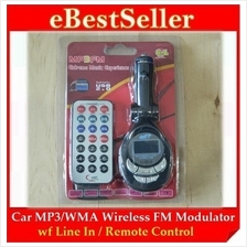 Car Mp3 FM / WMA Wireless FM Modulator With Line In / Remote control