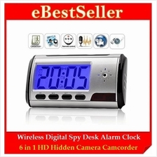 Motion Activated Spy Desk Alarm Clock CCTV Surveillance Pinhole Camera