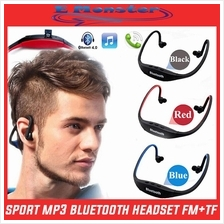 Wireless Handfree Bluetooth 4.0 Sport Earphone Headphone /FM + TF /MP3