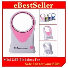 Mini USB / Battery Bladeless Air Condition Fan - Safety Fan for Kids