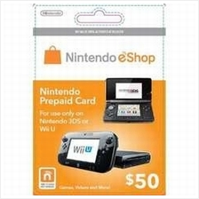 Nintendo Prepaid Card eShop US USD50 (get within 2 working hours)
