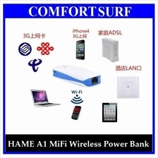 Multifunction HAME / 3G Wireless MiFi Router wf Power Bank 5200mAH
