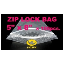 "ZIP LOCK BAG 5"" x 8"" x 100 pcs. ONLINE PROMO Resealable PP Plastic Bag"