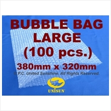 x 100 pcs. LARGE BUBBLE WRAP BAG 380mm x 320mm NO Flap ONLINE PROMO