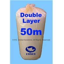 DOUBLE Layer BUBBLE WRAP 1m x 50m SUPER PROMO Plastic Packaging