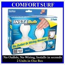 2 Pieces INSTA StickUp Shatter Proof Bulb Light Cordless + FREE GIFT