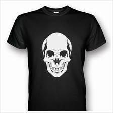 Skull Head Print Black T-shirt