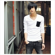 Men T-shirt- Korean men's long-sleeved t-shirt