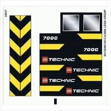 LEGO 8069 Technics Backhoe - Sticker Replacement NEW