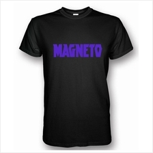 Magneto Black T-shirt Purple Print