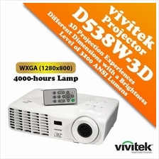 Vivitek D538W-3D Digital Projector WXGA (1280x800) with 3200 Lumens
