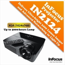 InFocus IN2124 Projector Delivers Ultra-bright 3200 Lumen Images